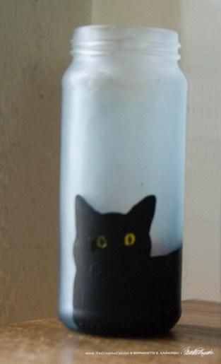 Bella! in Blue Feline Votive