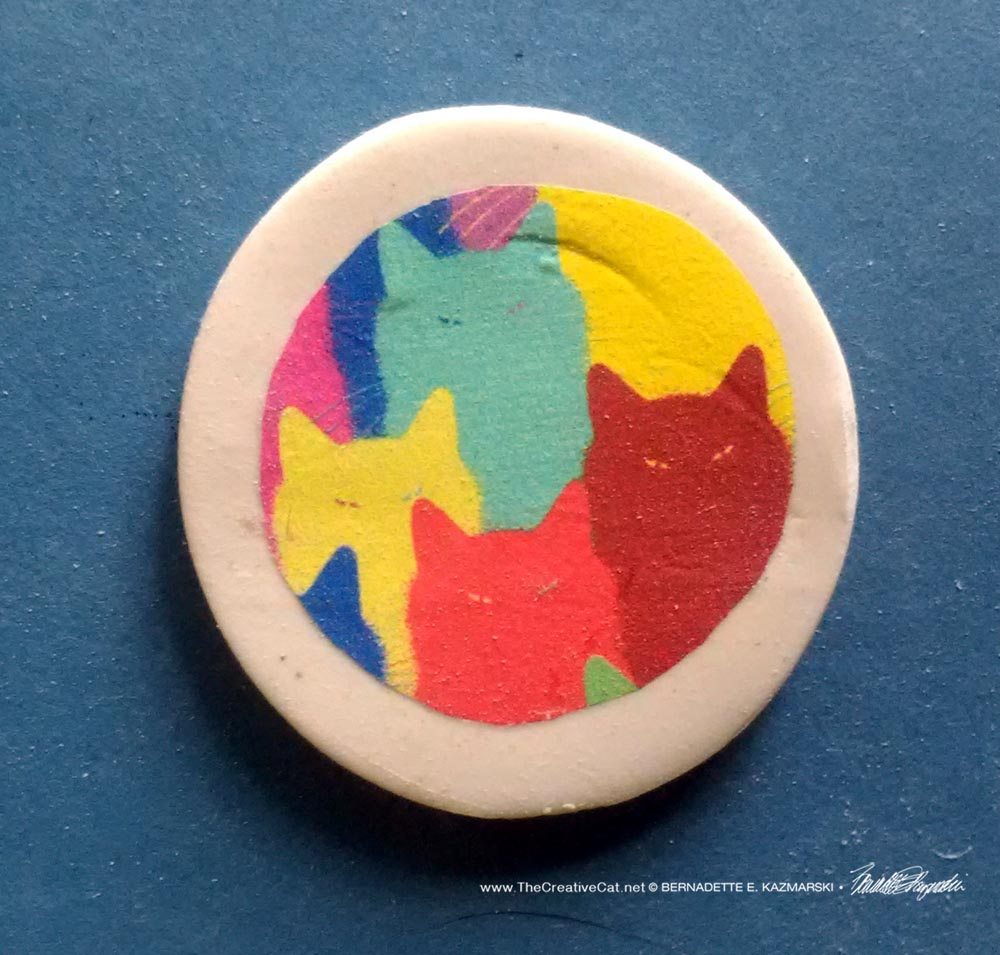 """Inscrutable Patterns 1"""" Round Magnet"""