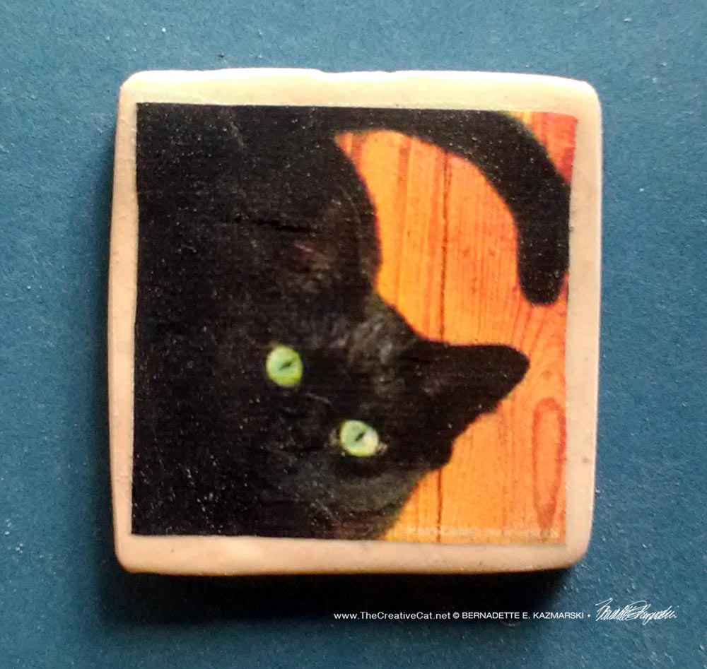 """The Eyes Have It 1"""" Square Magnet"""
