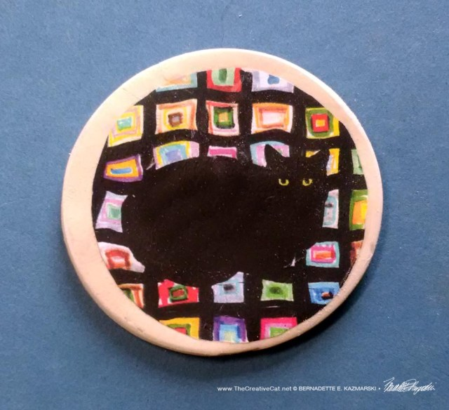 """Mewsette on the Afghan 2"""" Round Magnet"""