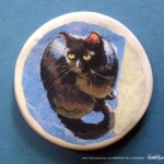 "Mewsette in Sun 2"" Round Magnet"