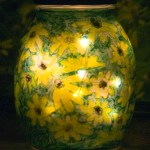 Handpainted Woodland Sunflowers Votive