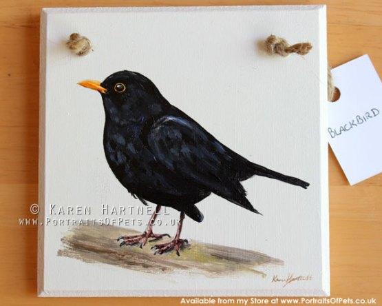 Blackbird Plaque