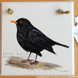 Blackbird Plaque