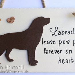 Chocolate Labrador Plaque