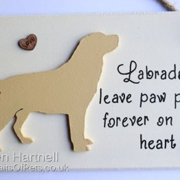Yellow Labrador Plaque