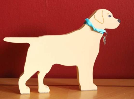 Standing Yellow Labrador