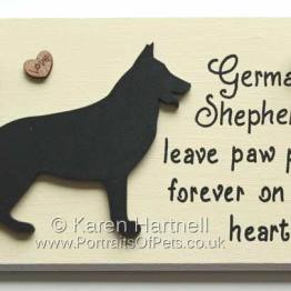 German Shepherd Dog Plaque