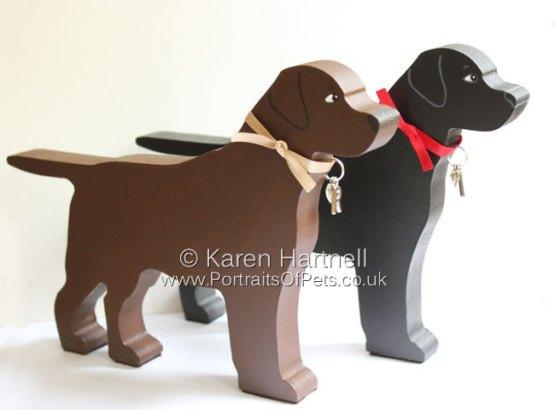 Standing Labradors