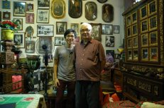 Artist Alvin Ong with patron Baba Peter Lee