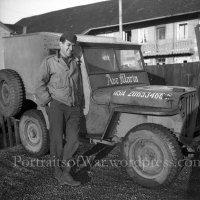 Awesome WWII Catholic Chaplain Jeep - Negative/Photo - Willys Jeep in Germany 1945