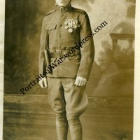 World War One 1st Division Portrait Photo - First US Soldier to Fire During WWI!  Alex Arch