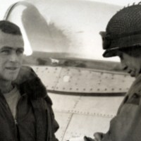 WWII Photo Identification: John Szlyk of Worcester, MA Interviews Downed Airman in Luxembourg