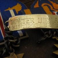 WWII Sterling Silver ID Bracelet - Walter Ciesla - Southbridge Hometown Hero B-24 Tail Gunner