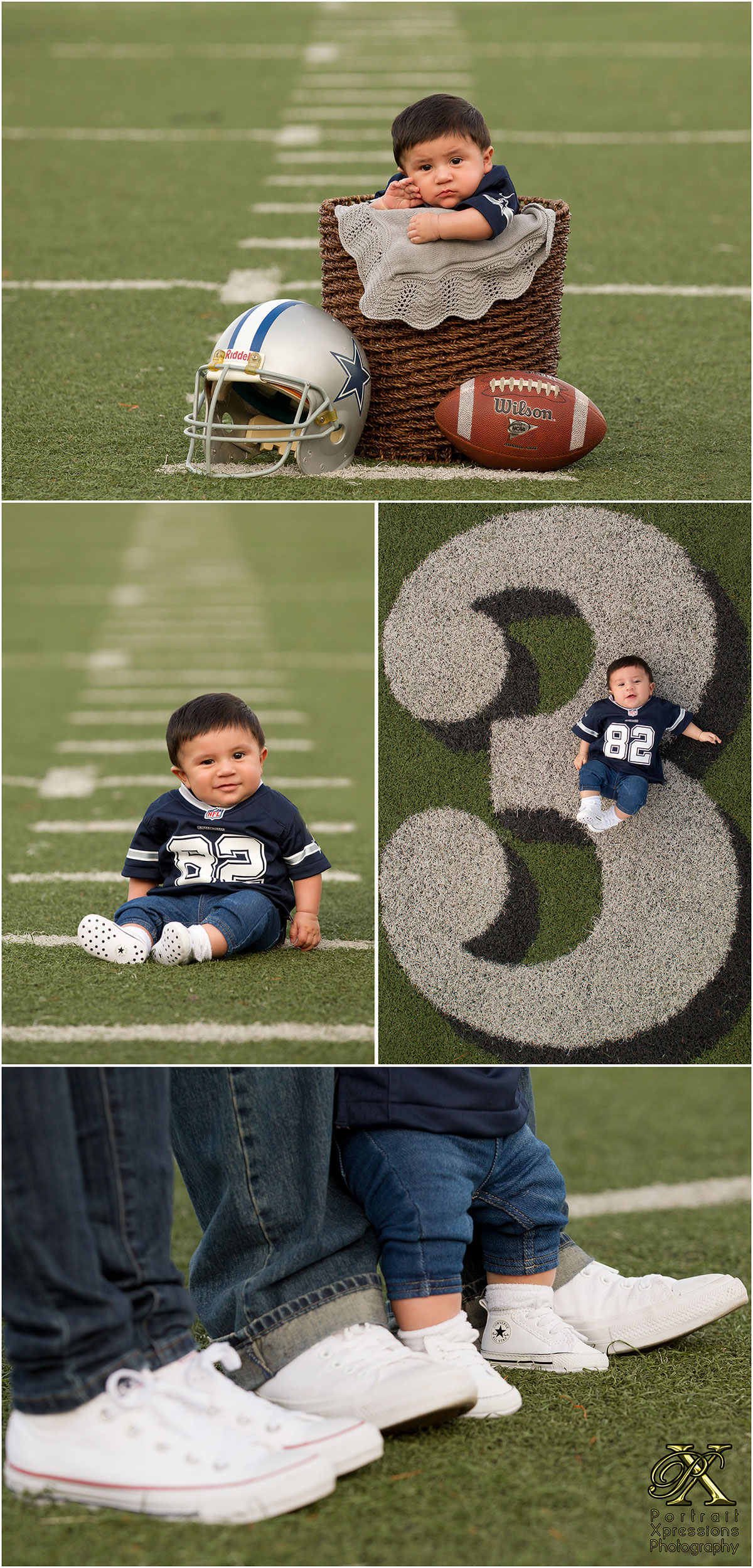 Cowboys themed baby session