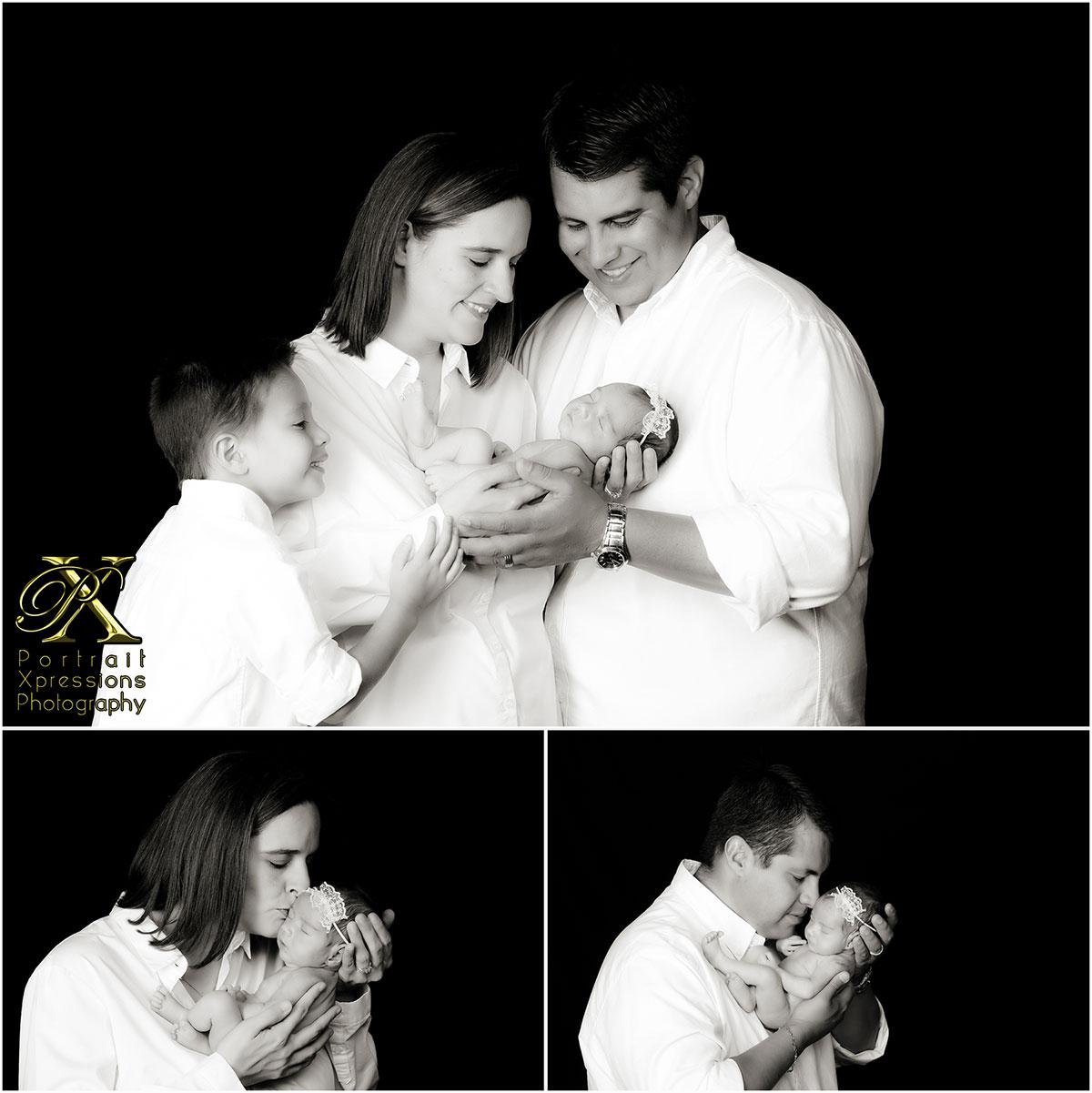 family with newborn portraits