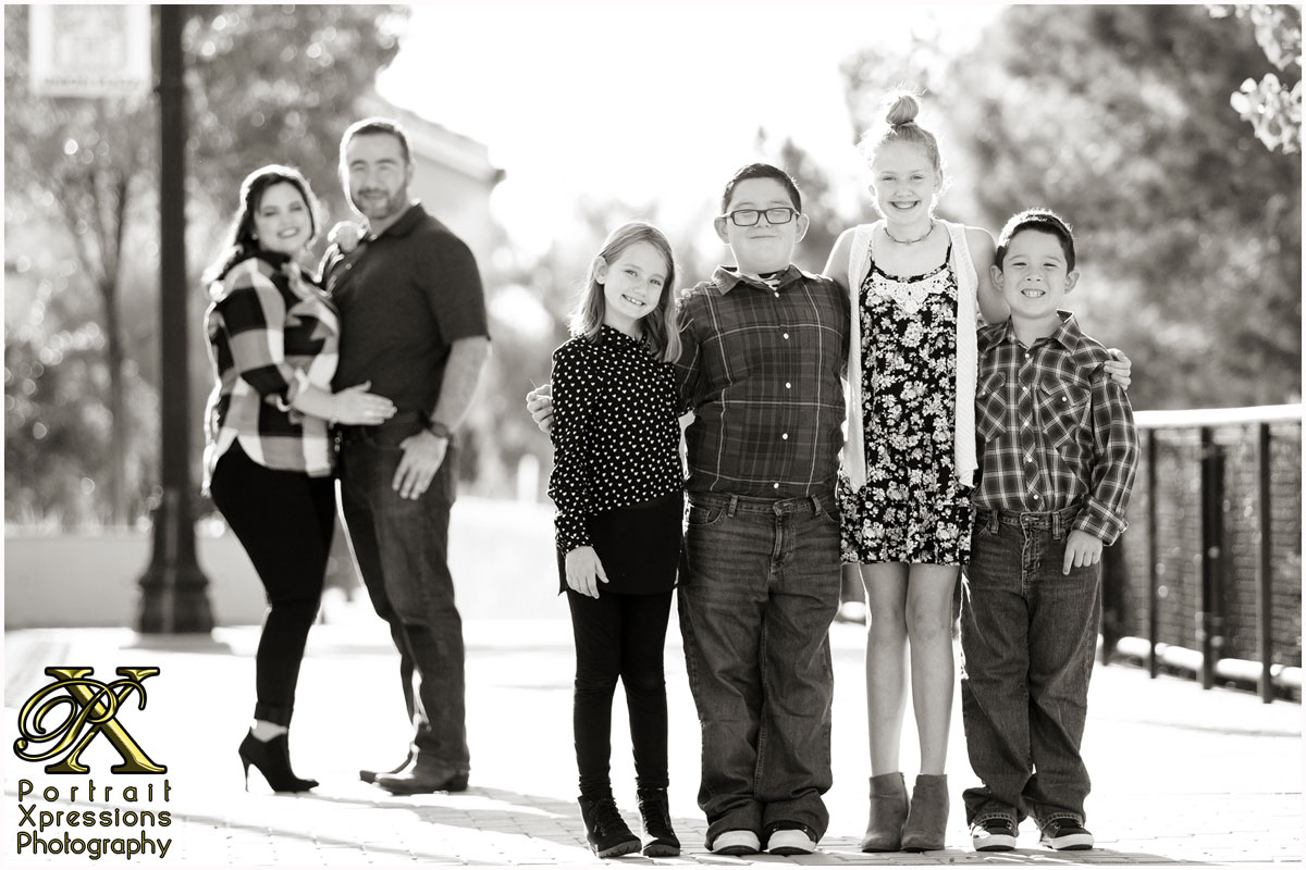black and white family portraits in El Paso Texas