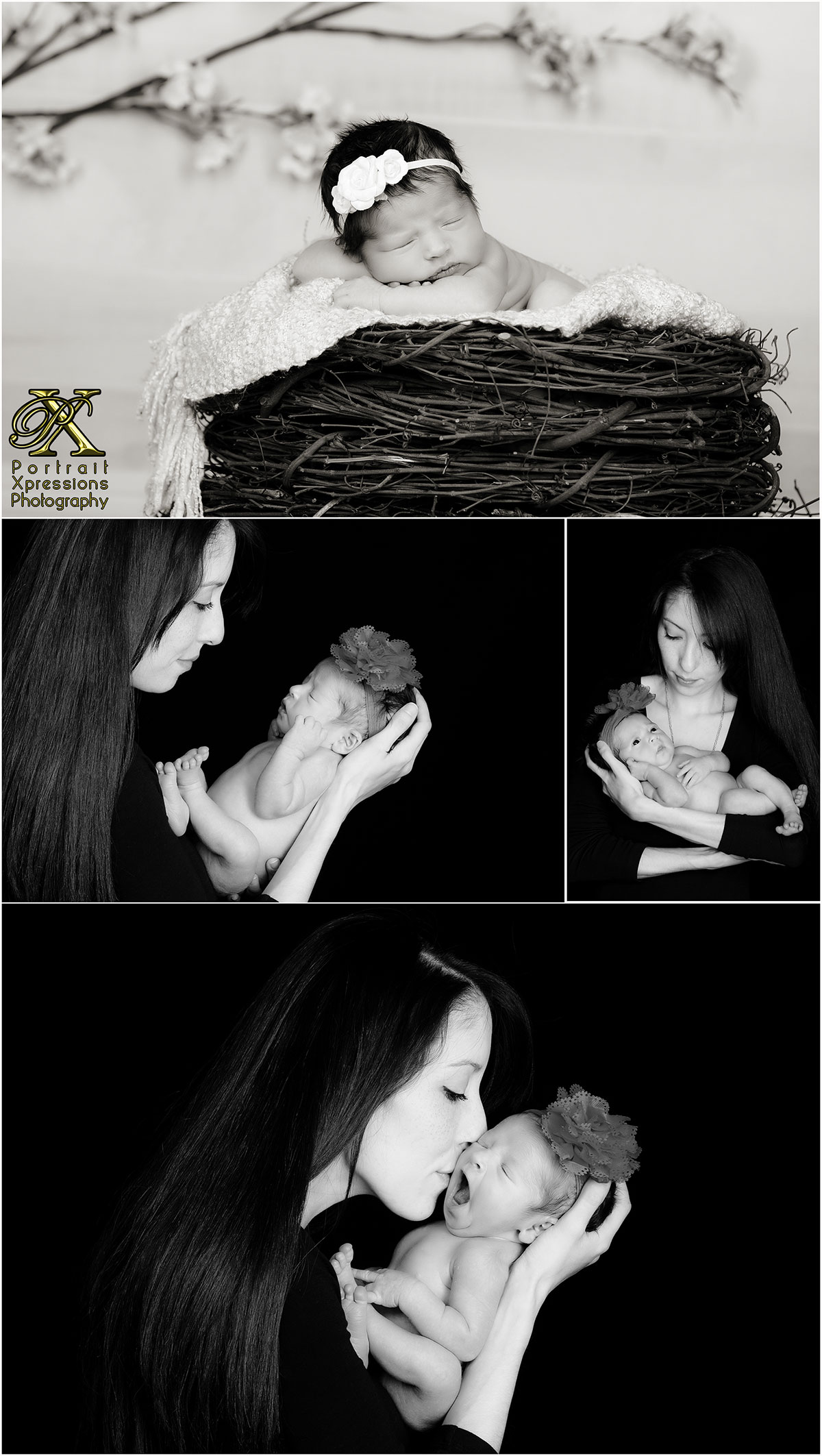 mom and newborn portraits