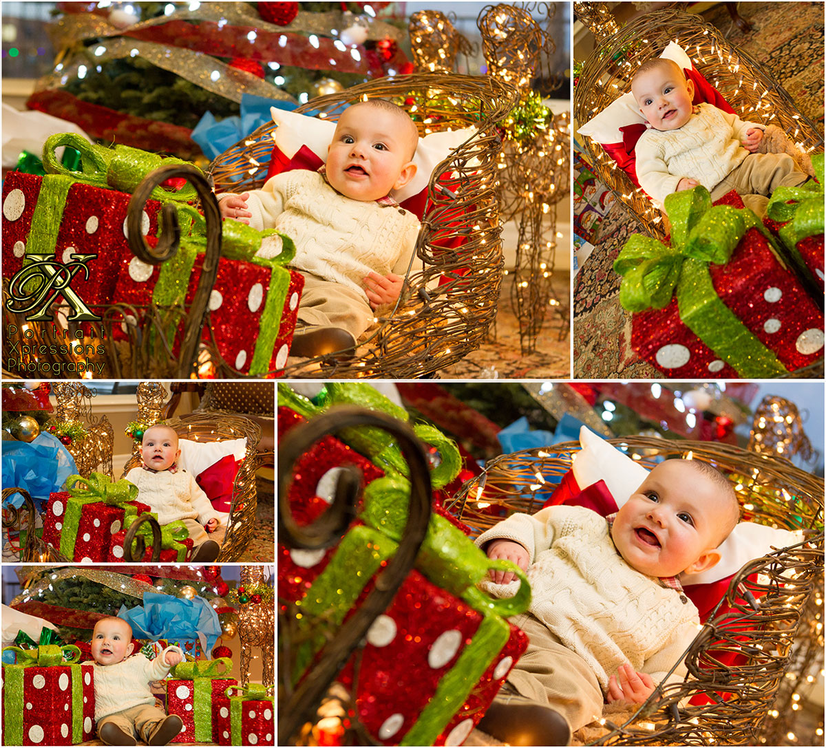 Dylan's first Christmas portraits