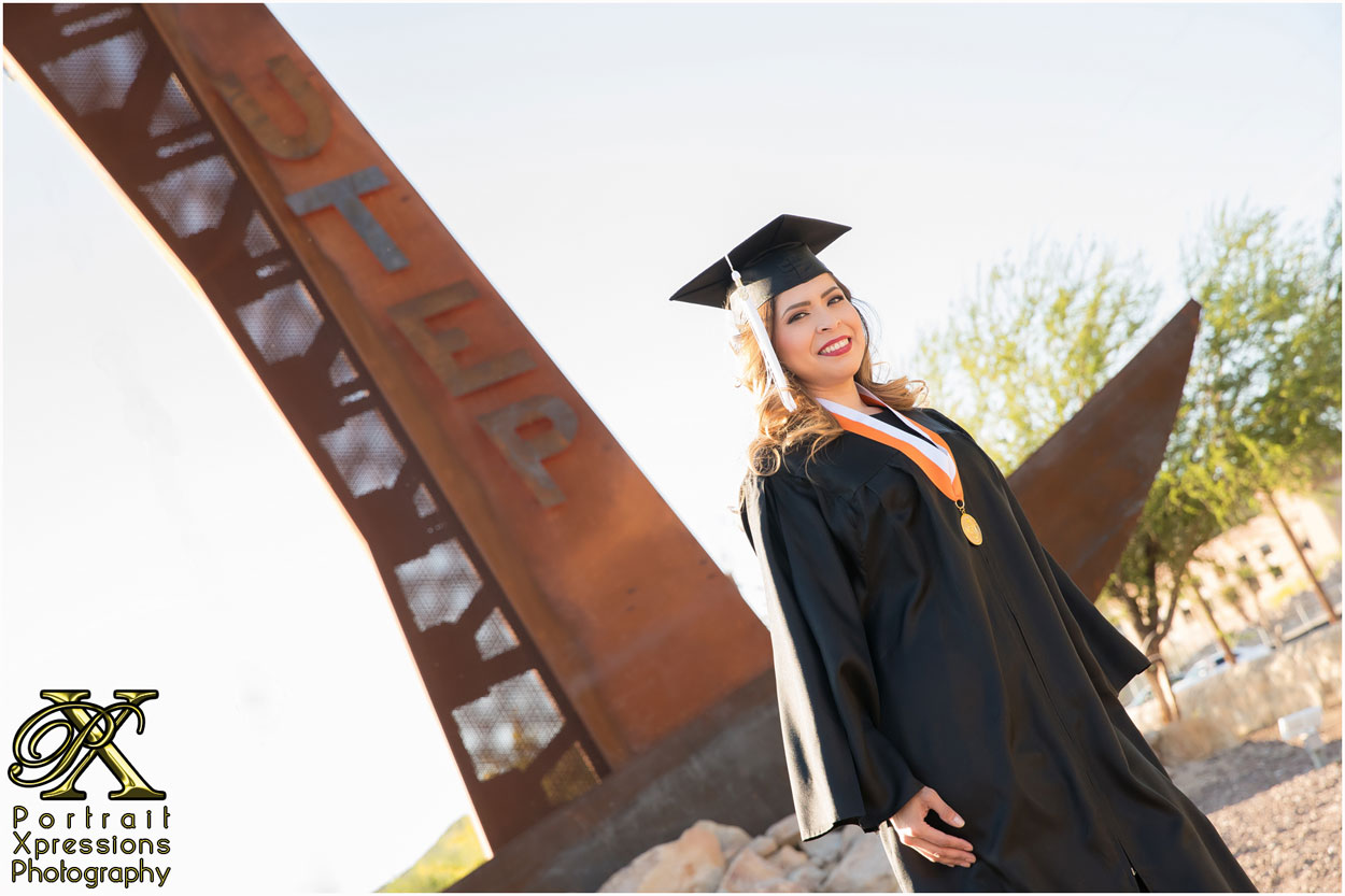UTEP cap and gown