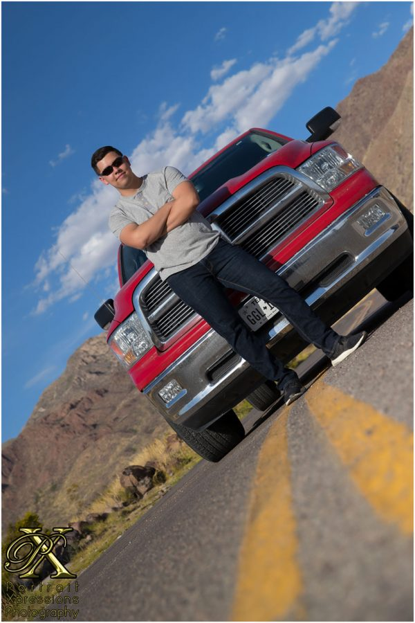 senior photography in El Paso with truck