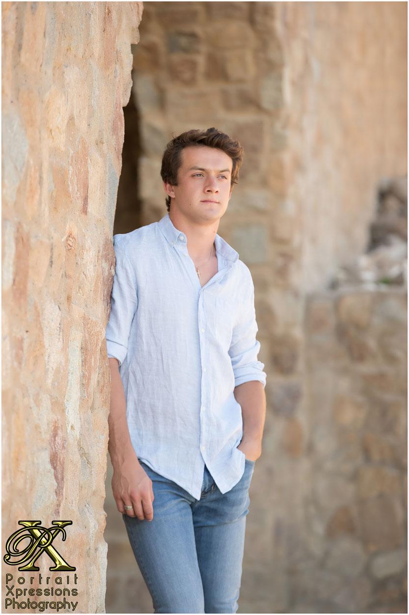 Senior boy in El Paso