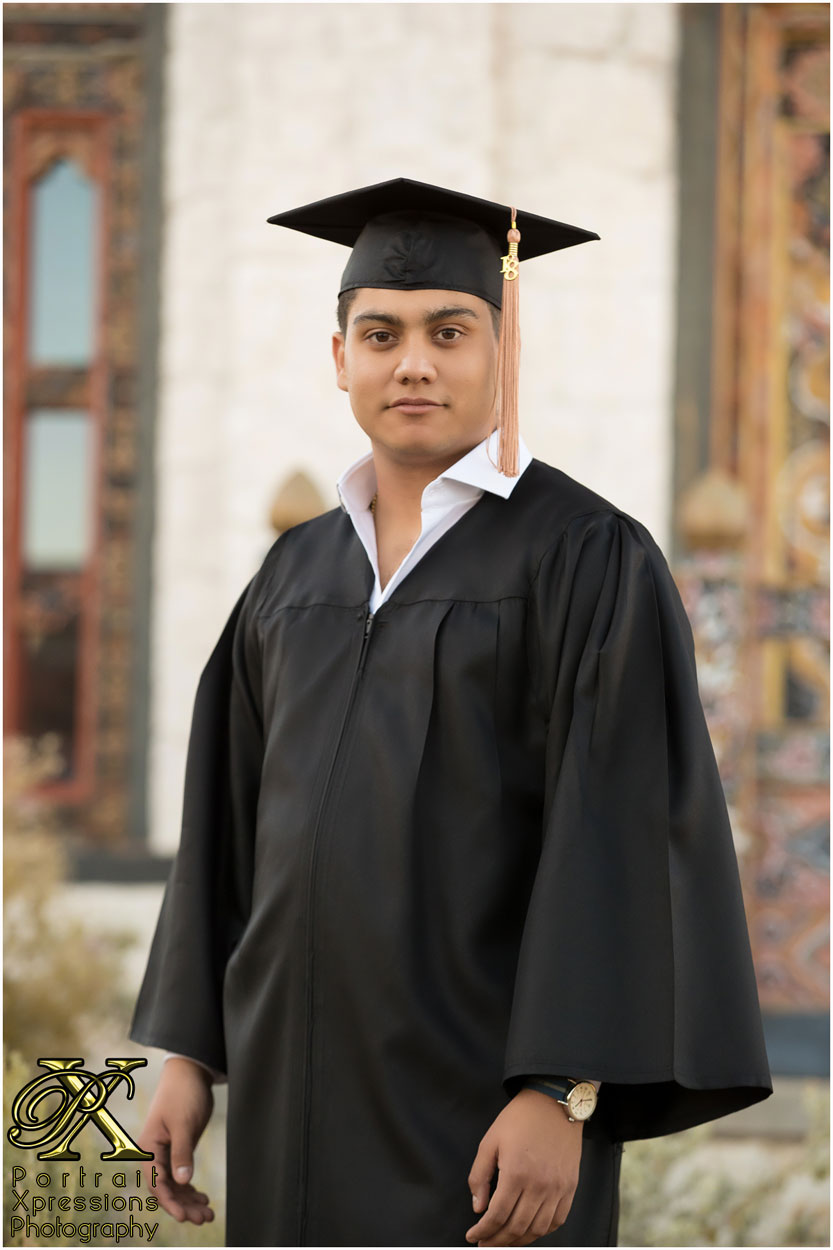 UTEP graduate with cap and gown photography