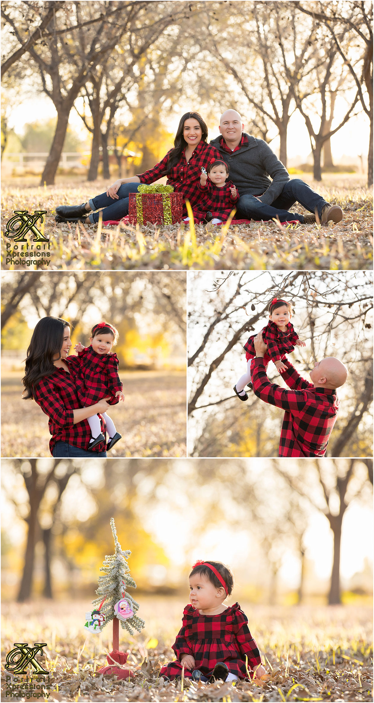 Outdoor family Christmas portraits in El Paso Texas