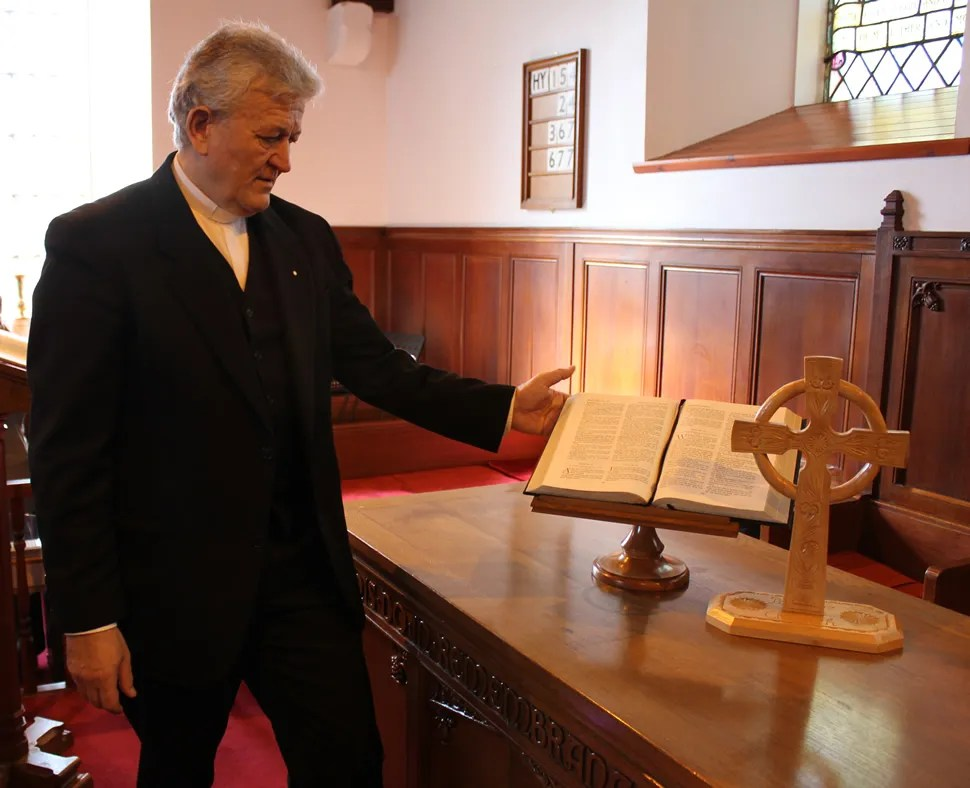 Image: Rev Sandor Fazakas, Portree Parish Church