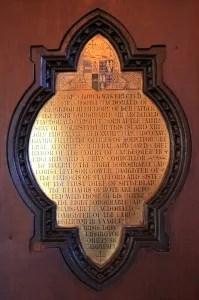 Portree Parish Church Plaque