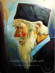 Portret de călugăr Tehnica: ulei, pictură pe pânză Dimensiune: 50 x 70 x 2 cm.