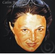 Portret de femeie Tehnica: ulei, pictură pe pânză Dimensiune: 50 x 50 x 2 cm.