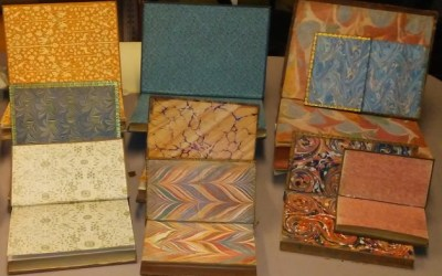Endpapers on Display in Library Room