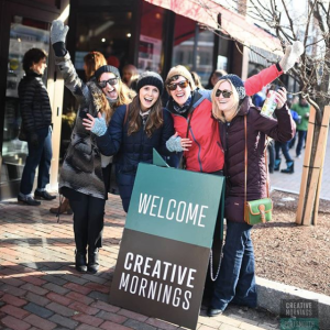 Meet people in Portsmouth NH Photo by Raya on Assignment for CreativeMornings Portsmouth