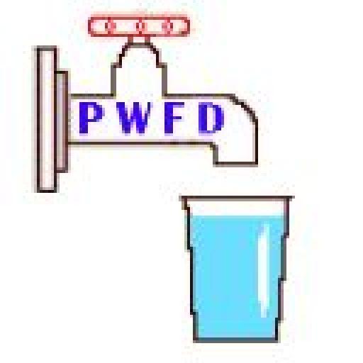 PWFD Logo depicting a spigot filling a cup.