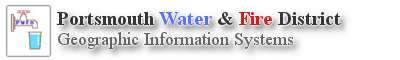 Portsmouth Water & Fire District Logo for Geographic Information System Maps