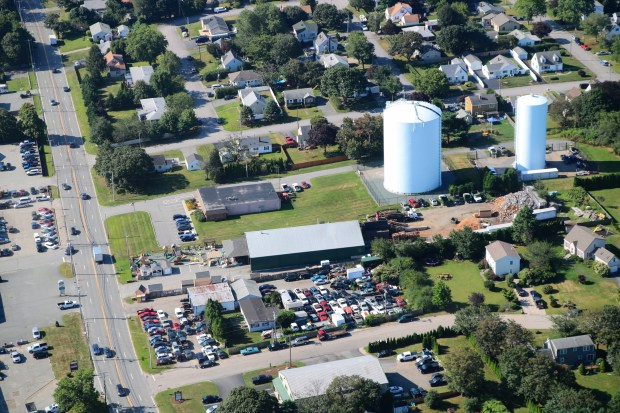 Aerial photograph of PWFD from helicopter.