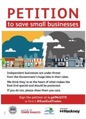 Save our small businesses poster