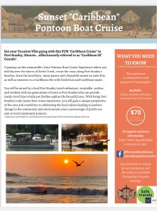 pontoon boat cruises port stanley ontario canada vacation package tour lake erie