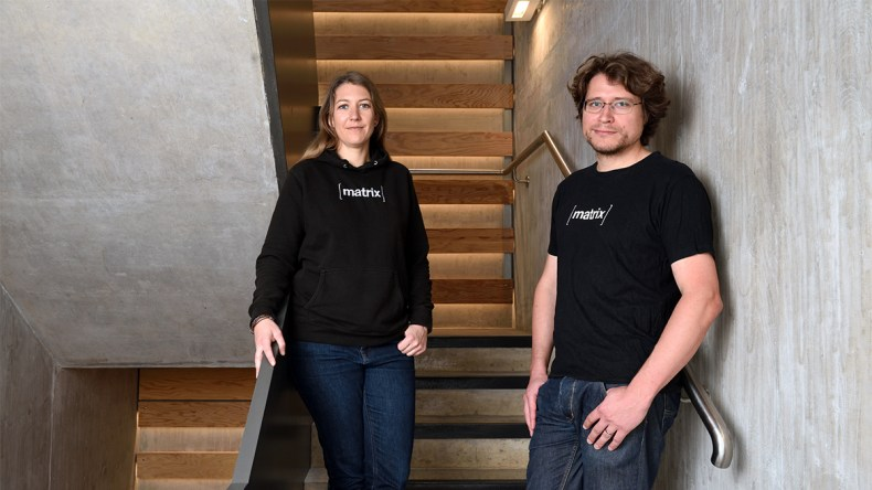 Amandine La Pape and Matthew Hodgson, co-founders of Matrix