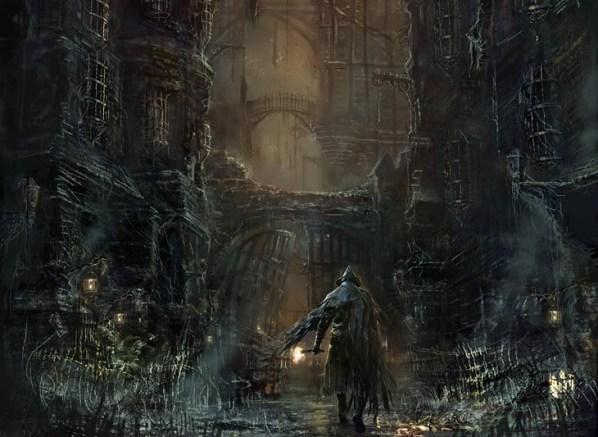 O cenário e ambiente em Bloodborne são fantásticos e melancólicos.