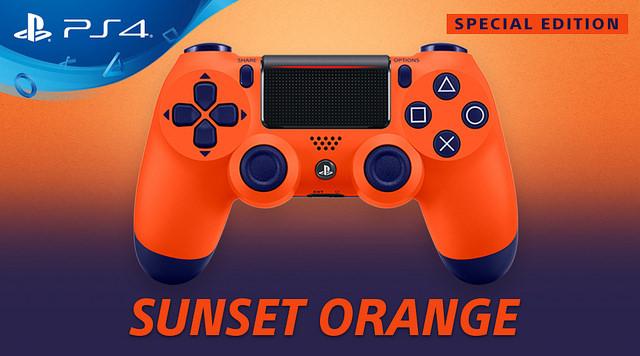 PlayStation anuncia edição Sunset Orange do comando DUALSHOCK 4