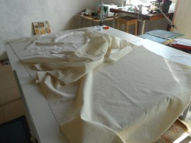 I made a start on some roman blinds for the living room