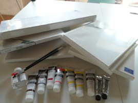 some of the art supplies I needed