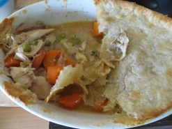 I made a chicken and veg pie with left overs from a roast dinner - I had forgotten how much I LOVe pies !