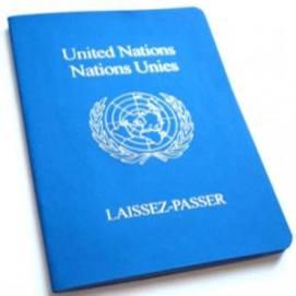 Pasaporte emitido por la ONU unicamente a los que tienen reconocido el estatuto de refugiado
