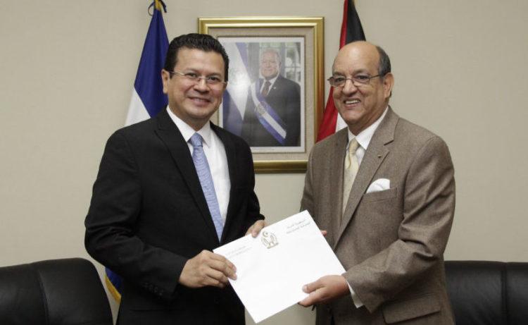 Canciller de El Salvador y Embajador Saharaui