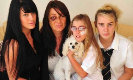 Mother beaten by thugs in front of her nine-year-old disabled daughter