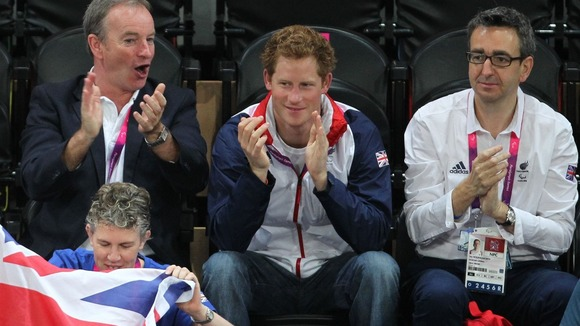Prince Harry Supports Women's Goalball