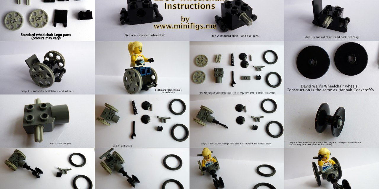 Want to make your own Lego wheelchair for your minifigs?